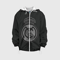 Детская 3D-куртка с капюшоном с принтом Real Madrid, цвет: 3D-белый, артикул: 10109758705458 — фото 1