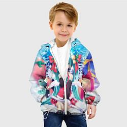 Куртка с капюшоном детская Мику с подарками цвета 3D-белый — фото 2