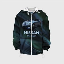 Детская 3D-куртка с капюшоном с принтом Nissan the best, цвет: 3D-белый, артикул: 10111121905458 — фото 1