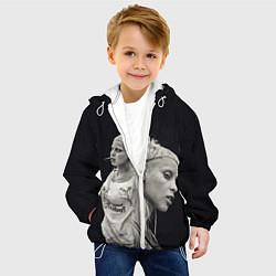 Детская 3D-куртка с капюшоном с принтом Die Antwoord: Black Girl, цвет: 3D-белый, артикул: 10112003305458 — фото 2