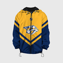 Куртка с капюшоном детская NHL: Nashville Predators цвета 3D-черный — фото 1