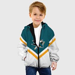 Детская 3D-куртка с капюшоном с принтом NHL: San Jose Sharks, цвет: 3D-черный, артикул: 10112243605458 — фото 2