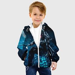 Куртка с капюшоном детская Metal gear solid 4 цвета 3D-белый — фото 2