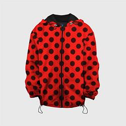 Куртка с капюшоном детская Леди Баг: узор цвета 3D-черный — фото 1
