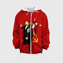 Детская 3D-куртка с капюшоном с принтом Communist Party, цвет: 3D-белый, артикул: 10114533805458 — фото 1