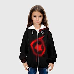 Детская 3D-куртка с капюшоном с принтом Gambit: Black collection, цвет: 3D-белый, артикул: 10115306005458 — фото 2