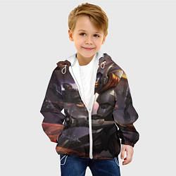 Детская 3D-куртка с капюшоном с принтом LoL, цвет: 3D-белый, артикул: 10116369505458 — фото 2