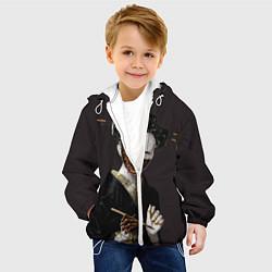 Детская 3D-куртка с капюшоном с принтом Ghost In The Shell 1, цвет: 3D-белый, артикул: 10123393405458 — фото 2