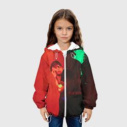 Детская 3D-куртка с капюшоном с принтом Dolphin Pain, цвет: 3D-белый, артикул: 10133427505458 — фото 2