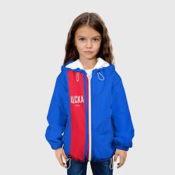 Детская 3D-куртка с капюшоном с принтом ЦСКА Форма, цвет: 3D-белый, артикул: 10133807105458 — фото 2
