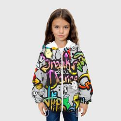 Детская 3D-куртка с капюшоном с принтом Break Show Dance, цвет: 3D-белый, артикул: 10136209305458 — фото 2