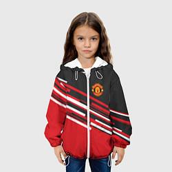Куртка с капюшоном детская Man UTD FC: Sport Line 2018 цвета 3D-белый — фото 2