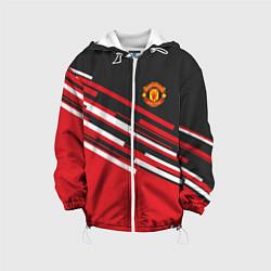 Куртка с капюшоном детская Man UTD FC: Sport Line 2018 цвета 3D-белый — фото 1