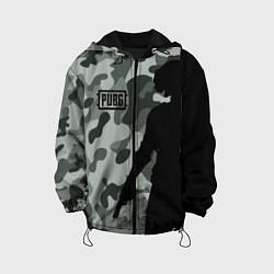 Куртка с капюшоном детская PUBG: Camo Shadow цвета 3D-черный — фото 1