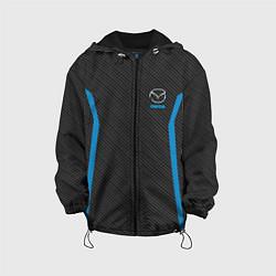 Детская 3D-куртка с капюшоном с принтом MAZDA SPORT, цвет: 3D-черный, артикул: 10146442905458 — фото 1