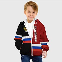 Детская 3D-куртка с капюшоном с принтом Krasnodar, Russia, цвет: 3D-белый, артикул: 10148329305458 — фото 2