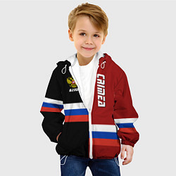 Куртка с капюшоном детская Crimea, Russia цвета 3D-белый — фото 2