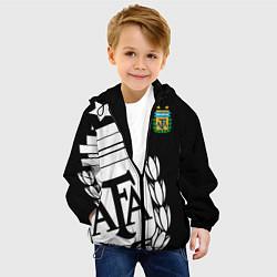Детская 3D-куртка с капюшоном с принтом Argentina Team: Exclusive, цвет: 3D-черный, артикул: 10153704905458 — фото 2