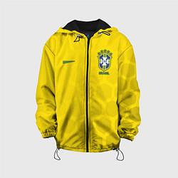 Детская 3D-куртка с капюшоном с принтом Brazil Team: WC 2018, цвет: 3D-черный, артикул: 10154615705458 — фото 1