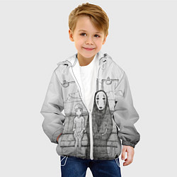 Детская 3D-куртка с капюшоном с принтом Унесенные призраками, цвет: 3D-белый, артикул: 10155884105458 — фото 2