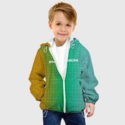 Детская 3D-куртка с капюшоном с принтом Imagine Dragons: Evolve Grid, цвет: 3D-белый, артикул: 10161268105458 — фото 2