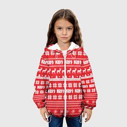 Детская 3D-куртка с капюшоном с принтом Kiss: NY Pattern, цвет: 3D-белый, артикул: 10165772505458 — фото 2