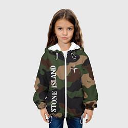 Детская 3D-куртка с капюшоном с принтом Stone Island: Khaki Camo, цвет: 3D-белый, артикул: 10166396105458 — фото 2