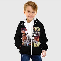 Детская 3D-куртка с капюшоном с принтом GTA SA, цвет: 3D-белый, артикул: 10200485905458 — фото 2