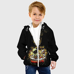 Детская 3D-куртка с капюшоном с принтом Five Nights At Freddy's, цвет: 3D-белый, артикул: 10200898105458 — фото 2