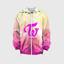 Детская 3D-куртка с капюшоном с принтом TWICE, цвет: 3D-белый, артикул: 10201491505458 — фото 1