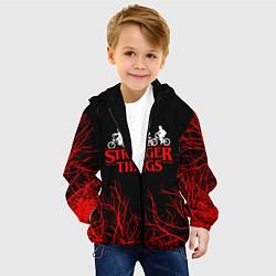 Детская 3D-куртка с капюшоном с принтом STRANGER THINGS, цвет: 3D-черный, артикул: 10201598105458 — фото 2