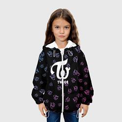 Детская 3D-куртка с капюшоном с принтом Twice, цвет: 3D-белый, артикул: 10201797505458 — фото 2