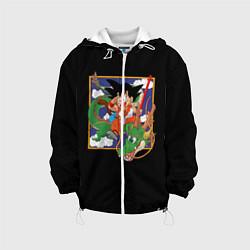 Детская 3D-куртка с капюшоном с принтом Dragon Ball, цвет: 3D-белый, артикул: 10203591305458 — фото 1