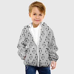 Детская 3D-куртка с капюшоном с принтом Нашествие пингвинов, цвет: 3D-белый, артикул: 10205490505458 — фото 2