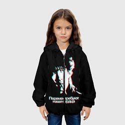 Детская 3D-куртка с капюшоном с принтом Виктор Цой, цвет: 3D-черный, артикул: 10207083705458 — фото 2