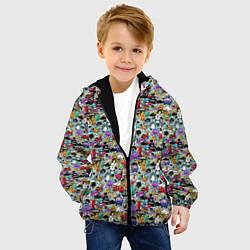 Детская 3D-куртка с капюшоном с принтом Stickerboom, цвет: 3D-черный, артикул: 10207267705458 — фото 2