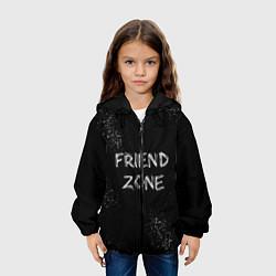 Детская 3D-куртка с капюшоном с принтом FRIEND ZONE, цвет: 3D-черный, артикул: 10209036705458 — фото 2