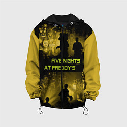 Детская 3D-куртка с капюшоном с принтом Five Nights at Freddy's, цвет: 3D-черный, артикул: 10210855905458 — фото 1
