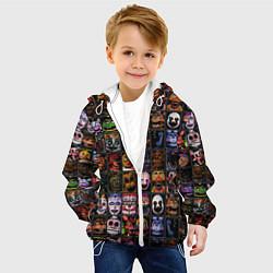 Детская 3D-куртка с капюшоном с принтом Five Nights At Freddy's, цвет: 3D-белый, артикул: 10211264305458 — фото 2