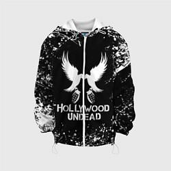 Детская 3D-куртка с капюшоном с принтом Hollywood Undead, цвет: 3D-белый, артикул: 10213540705458 — фото 1