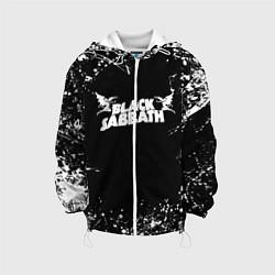 Детская 3D-куртка с капюшоном с принтом Black Sabbath, цвет: 3D-белый, артикул: 10213966105458 — фото 1