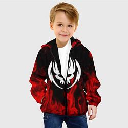 Куртка с капюшоном детская THE OFFSPRING цвета 3D-черный — фото 2