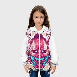 Куртка 3D с капюшоном для ребенка Маска Ханья светлая Самурай - фото 2
