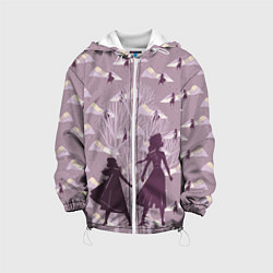 Детская 3D-куртка с капюшоном с принтом Холодное сердце, цвет: 3D-белый, артикул: 10253332705458 — фото 1