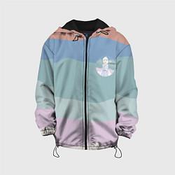 Детская 3D-куртка с капюшоном с принтом Холодное сердце, цвет: 3D-черный, артикул: 10253334505458 — фото 1