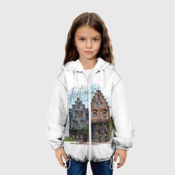 Детская 3D-куртка с капюшоном с принтом Амстердам, цвет: 3D-белый, артикул: 10266345105458 — фото 2