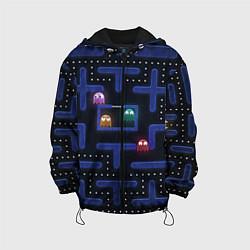 Детская 3D-куртка с капюшоном с принтом Pacman, цвет: 3D-черный, артикул: 10268708305458 — фото 1