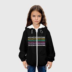 Детская 3D-куртка с капюшоном с принтом Прокачаем друг друга, цвет: 3D-белый, артикул: 10274779105458 — фото 2