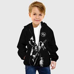 Детская 3D-куртка с капюшоном с принтом FOO FIGHTERS, цвет: 3D-черный, артикул: 10274948705458 — фото 2