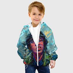 Детская 3D-куртка с капюшоном с принтом Цой, цвет: 3D-белый, артикул: 10276726105458 — фото 2